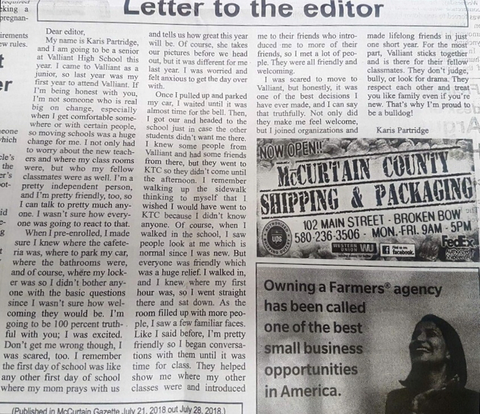 KP Letter to the Editor