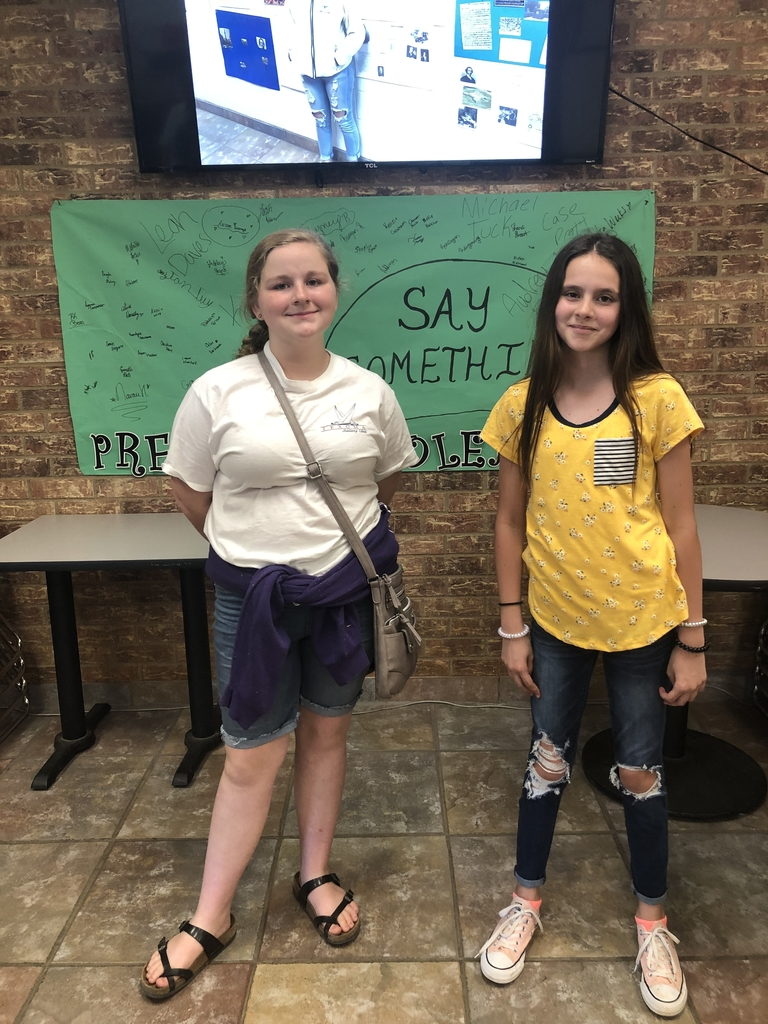 Chloe Clements & Kenzie Graham - 7th grade representatives